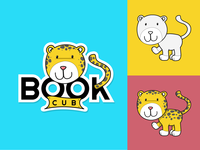 Book Cub Logo flat oil pastel logo icon drawing outline vector illustration branding ui