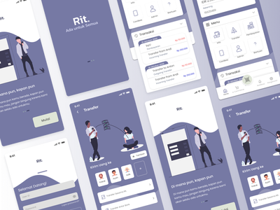 Rit. Mobile Banking mobile bank minimal design ux user interface userinterface ui interface