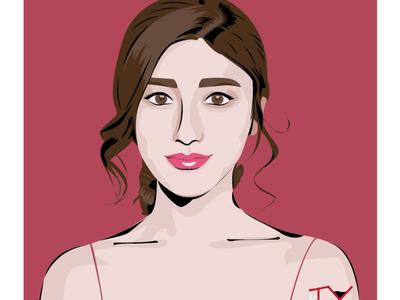 girl popup illustrator girl illustration girl