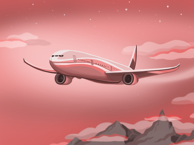 Pinkie 777 boeing airplane sketching sky art illustration pinkie aircraft 777 plane