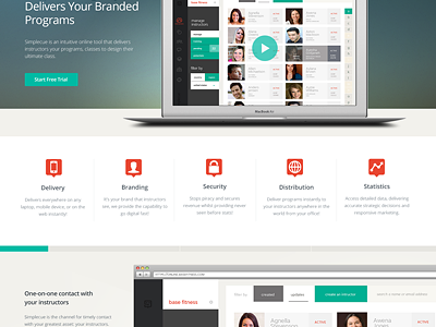 Simplecue WIP landing page website marketing responsive ui