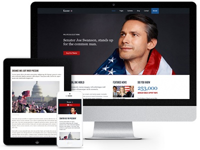 Kause for Wordpress charity church politics template responsive wordpress theme