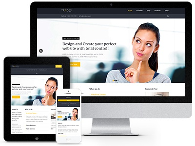 Trades WordPress Theme wordpress ui web website design business theme