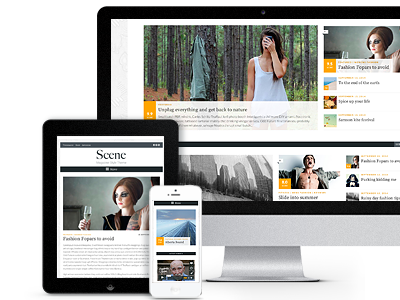 Magazine Template called Scene  wordpress ui web website design business theme