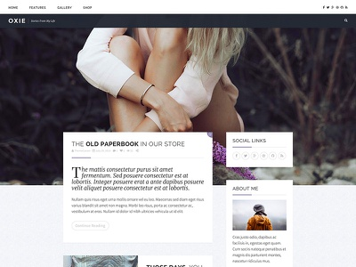Personal WordPress Theme Design themeforest theme ui web wordpress
