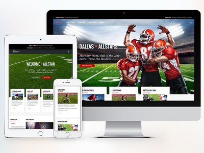 AllStar Athlete & Club Concept themeforest theme ui web wordpress