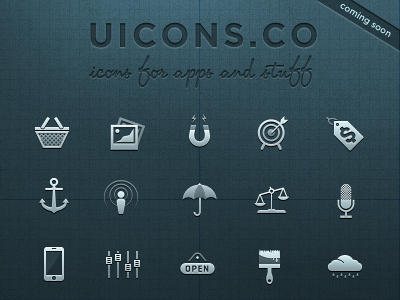Icon Set Preview 'UICONS' ui icons set design vector shapes glyphs