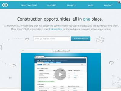 Estimate One Website Concept