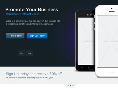 Saas Theme Interface saas theme landing page home slider