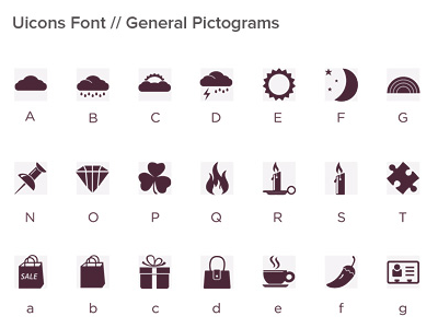 Uicons Fonts Family Sample