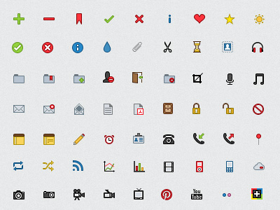 Mini User Interface Icons icons ui user interface iconography colour