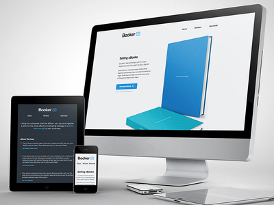 Booker - For Selling eBooks landing page website marketing book responsive