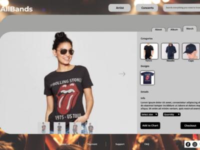 Allbands ui website design website uxdesign uidesign uiux ux ui