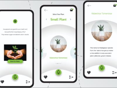 Homeplant apps, for better living mobileappdesign uidesign uxdesign mobileapps plant plantapps uiux ux ui