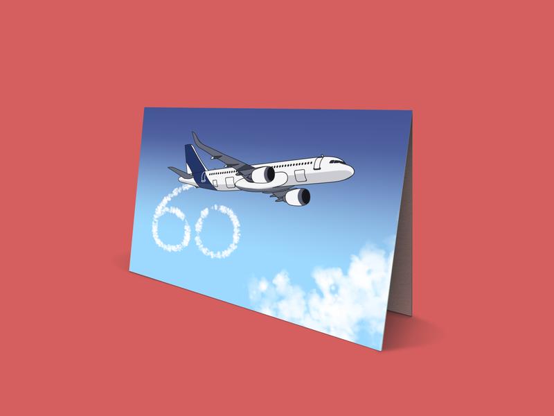 Aeroplane Card 60 cards aeroplane design illustration