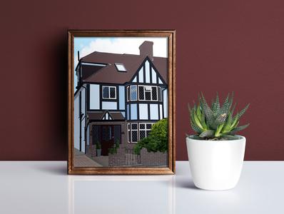 House Portrait design illustration home house portrait