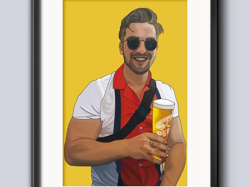 Portrait digital art portrait illustration portrait art portrait graphic design illustration design