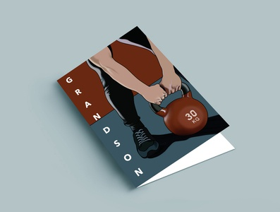 Weight Card graphic design illustration design greeting card weight lifting