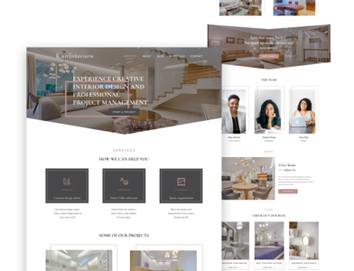 Interior decor Agency porfolio art icon website minimal web ux ui design