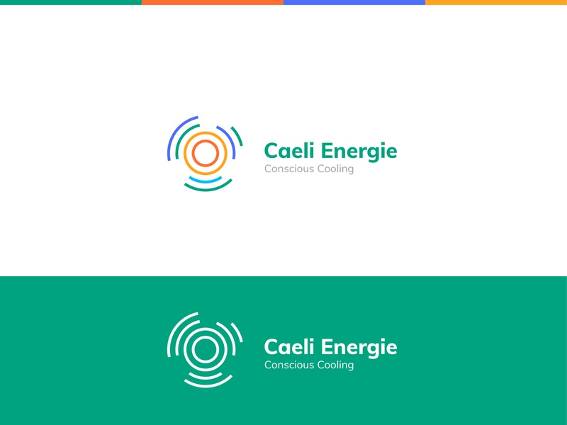 Caeli Energie logo design creative logo system technology air conditioning development startup cooling energy logotype identity logo design branding