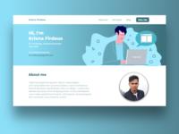 Portofolio Landing Page job hire freelancer ux designer ux design website design ui ux web blueprint illustration web design landing page