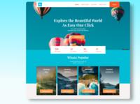 Web Travel travel website traveling blue web design travel website job ux designer ux design ux ui hire freelancer design