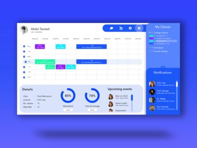 Classroom dashboard xd design webapp productivity product design