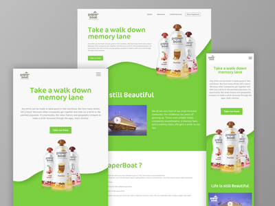 Paperboat typography ux illustration logo product design landing page website concept user interface uidesign ui