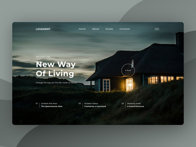 Landing Page design for Architecture Company concept architect architechture architecture landscape landing page ui design uidesign ui  ux ux uiux ui website design web design webdesign website web landing
