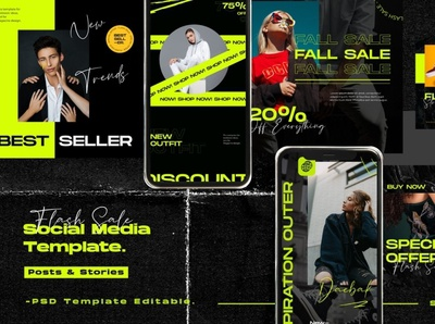 Flash Sale Instagram Post Stories modern creative digital art design branding social media template social media pack social media posts post story stories templates template instagram templates instagram banner instagram stories instagram post instagram template instagram