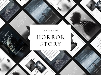 Instagram Horror Stories & Posts psd professional elegant modern creative digital art design branding social media pack social media template social media posts stories instagram banner instagram post instagram stories template instagram stories pack instagram stories instagram template instagram