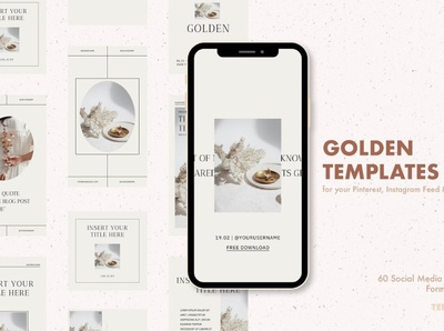 Golden Templates for Instagram blogger blog design branding design entrepreneurs digital art branding templates template social media template social media pack social media posts stories instagram templates instagram banner instagram stories instagram post instagram template instagram