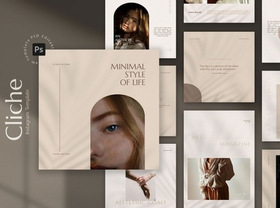 Cliche - Minimal Instagram Template design digital art social media marketing social media templates social network social app social media banner social media design social media pack social media template social media posts post story stories instagram story template instagram stories instagram template instagram minimal