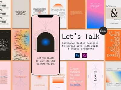 Gradient Instagram Quotes marketing advertising instagram story stories instagram template instagram stories instagram banner instagram post design digital art graphic quotes quote template graphic design instagram quotes instagram holography holographic gradient