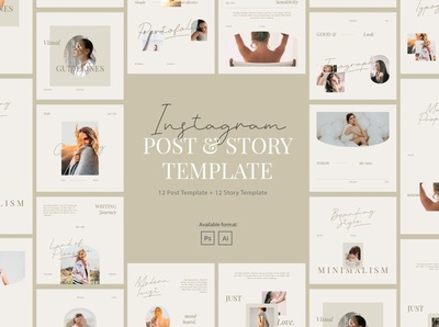 Minimalist Beauty Instagram Template professional elegant modern creative digital art design template social media pack social media template social media posts stories instagram template instagram stories instagram banner instagram post instagram beauty minimalist minimal