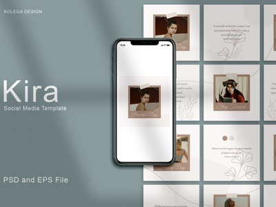 Kira - Instagram Post Template digital art design social media template social media pack social media posts post story template design stories templates template instagram templates instagram story template instagram post template instagram banner instagram template instagram stories instagram post instagram