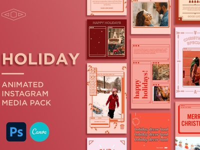 Holiday IG Kit in PSD & CANVA digital art design social media template social media pack social media instagram post template instagram story template instagram templates instagram stories instagram banner instagram post instagram template instagram animated canva template canva psd holiday ig kit holiday ig holiday