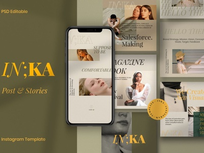 INKA - New Brand Fashion Instagram fashion design professional design blogger blog social media template social media pack social media posts post story stories instagram template instagram stories instagram banner instagram post instagram fashion brand new