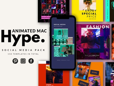 Animated Mac Hype Instagram Pack blog post template stories template story templates social media template post social media instagram banner instagram stories instagram post instagram digital art design animated logo animated instagram posts instagram templates instagram template animated instagram animated