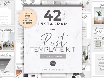 42 Instagram Post Templates | Canva elegant modern minimal simple professional blogger blog photoshop social media pack posts stories social media digital art design instagram templates instagram banner instagram stories instagram post instagram template instagram