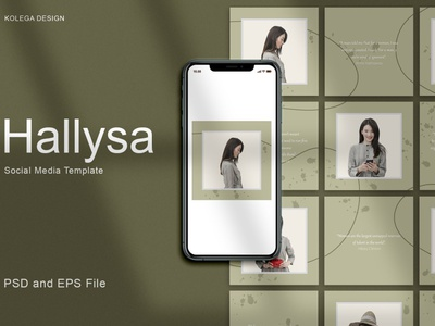 Hallysa - Instagram Post Template promotions professional minimalist minimal branding advertising design social media template social media pack social media post story instagram templates instagram posts template instagram banner instagram stories instagram template instagram posts instagram post instagram