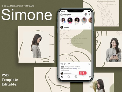 Simone - Instagram Post Template blog digital art design instagram posts template instagram banner instagram stories social media template social media pack social media posts post story stories instagram post template instagram story template instagram templates instagram template instagram posts instagram post instagram