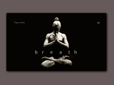 Yoga studio shot - dark mode yoga website шапка студия йоги йога denge ruh antreman webdesign web tasarım dark black siyah nefes yoga salonu yoga studio yoga