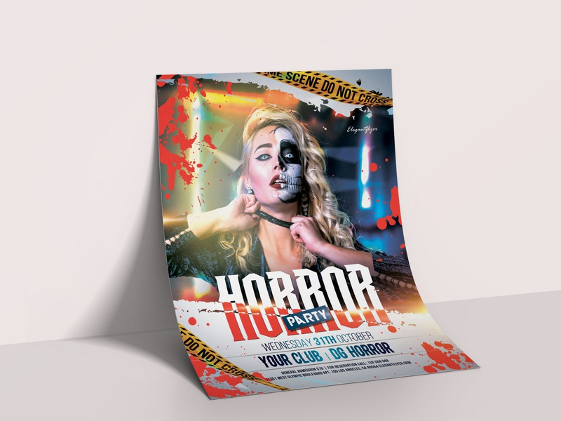 Free Halloween Flyer Template in PSD psd design psd flyer template flyer artwork flyer design flyers flyer horror scary halloween design halloween bash halloween flyer halloween party halloween event party design psd template free psd templates free psd