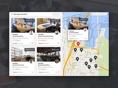 Map Search search workspace web design branding app map ux ui