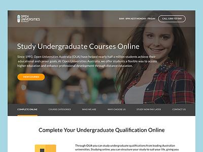 Education Landing Pages university interface course learning web ux ui landing education