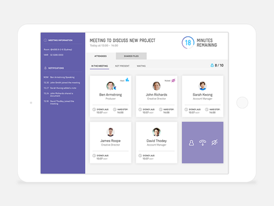 Conference Call App telco app tablet ux ui telstra application conference