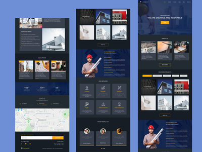 Construction Company Website design by Pharoah construction website website ui ux design ui design dashboard design figma design figmaafrica uidesign uiux landing page template landing page design landing page website design pharoah construction company