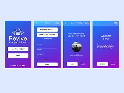Mindful App Sign Up Flow ui app design product design dailyui