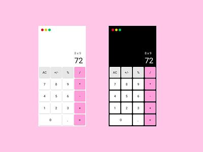 Calculator design product design dailyui